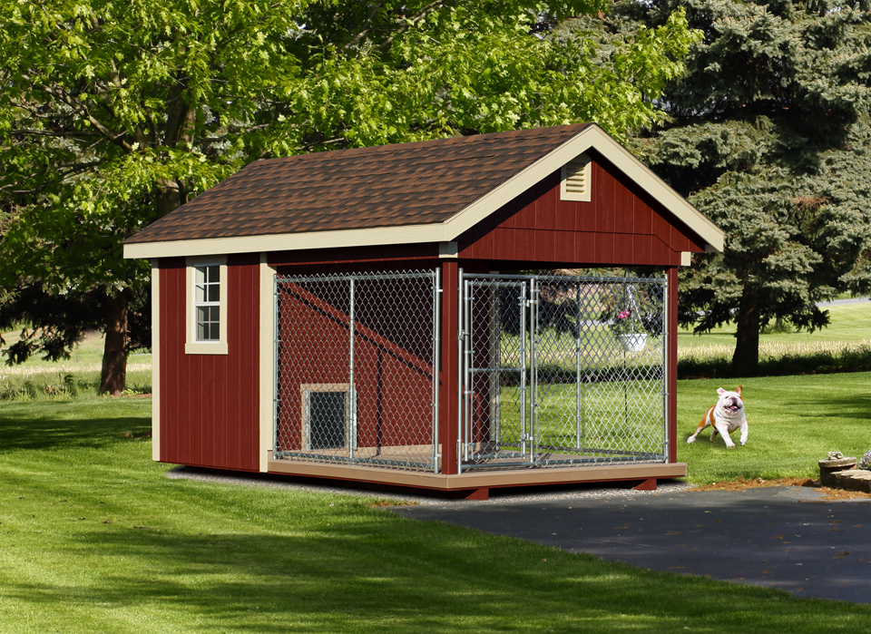 8x12 Single Dog House_Outdoor Kennel