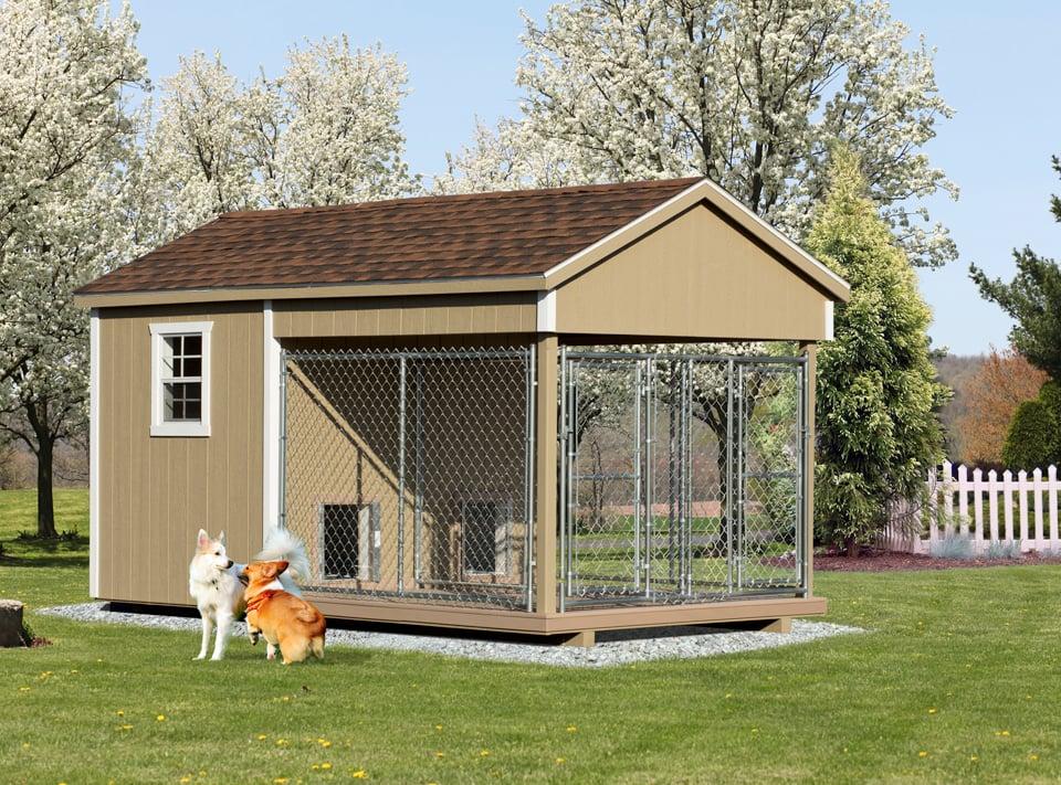 8x14 Double Dog House_duplex dog house