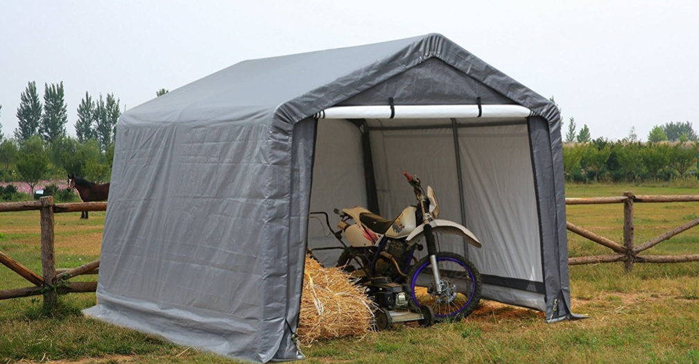 Motorcycle portable shed tent by Gino Development