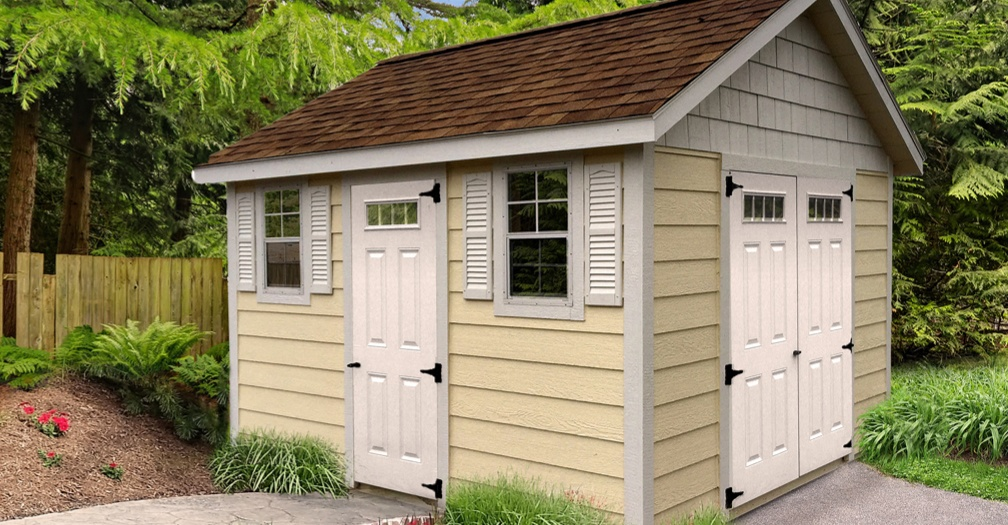 Deluxe garden shed with lap siding