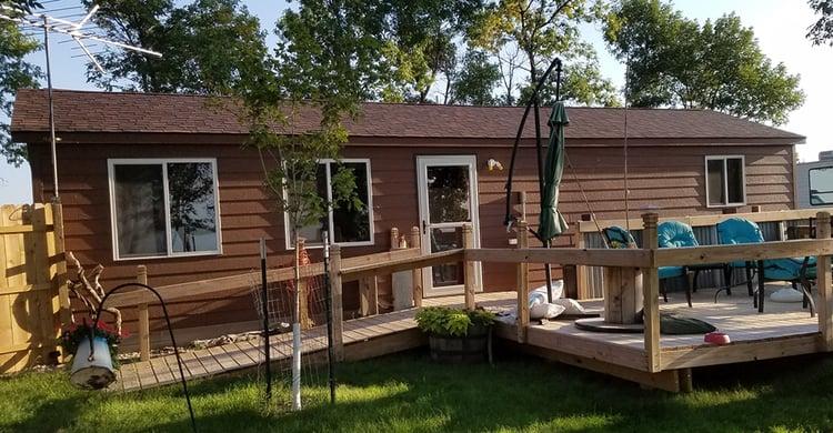 Backyard Shed Idea: Backyard Cabin-back porch