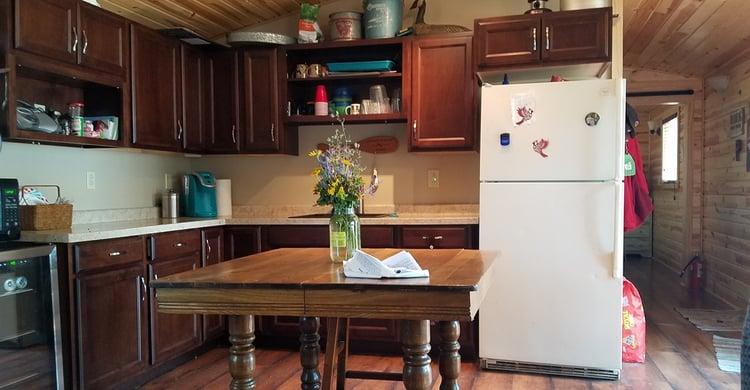 Backyard Shed Idea: Backyard Cabin-kitchen