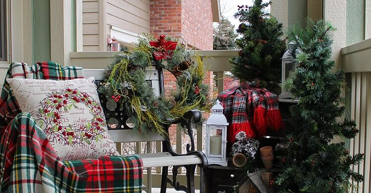 Outdoor Christmas Decoration Idea #6: Mini Christmas Trees
