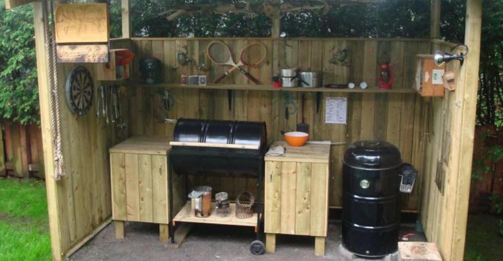 Sample BBQ shelter found on Pinterest