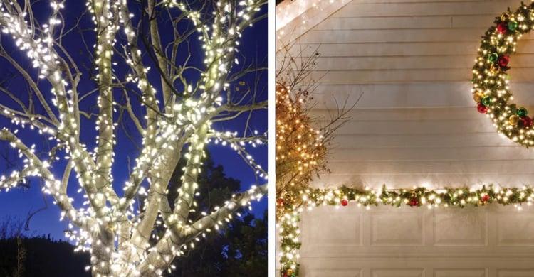 Outdoor Christmas Decoration Idea #5: Solar Christmas Lights