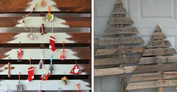 Outdoor Christmas Decoration Idea #3: Pallet Christmas Tree