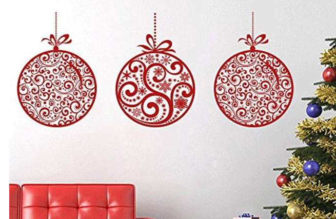 Holiday Christmas Ornaments Decal