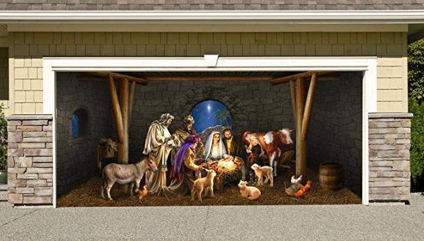Nativity Scene  Garage Door Decor
