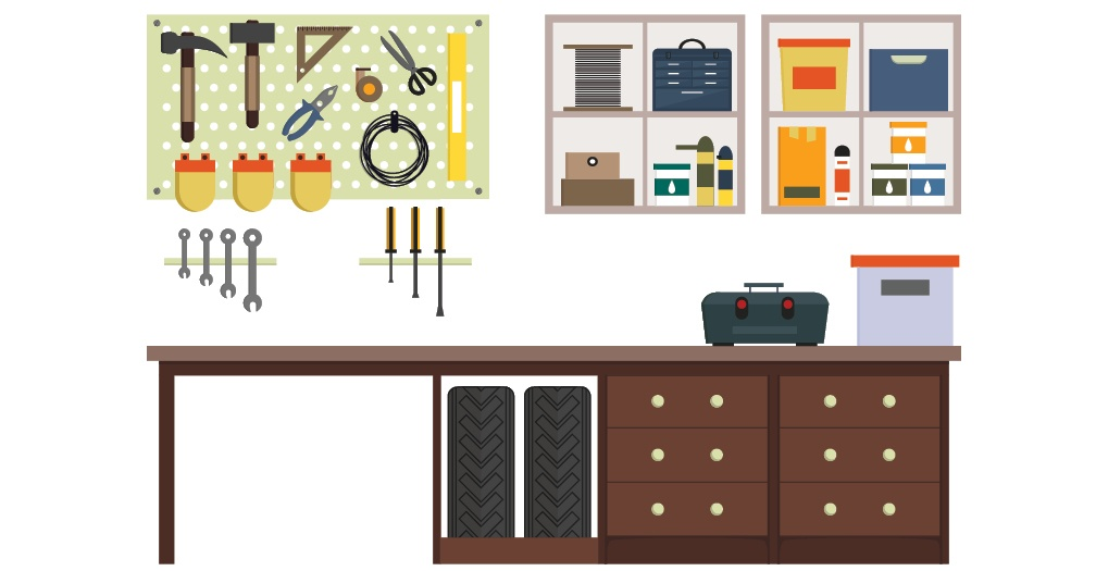 Space saving ideas organizational tips for your shed garage - Space saving garage shelves ideas must have ...