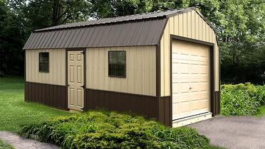 On-Site Built Garage Package - High Barn - Yellow & Brown