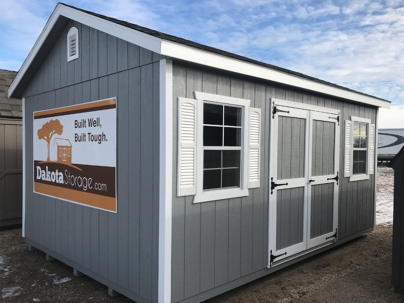 Our Dakota Storage Alexandria shed lot is easy to find