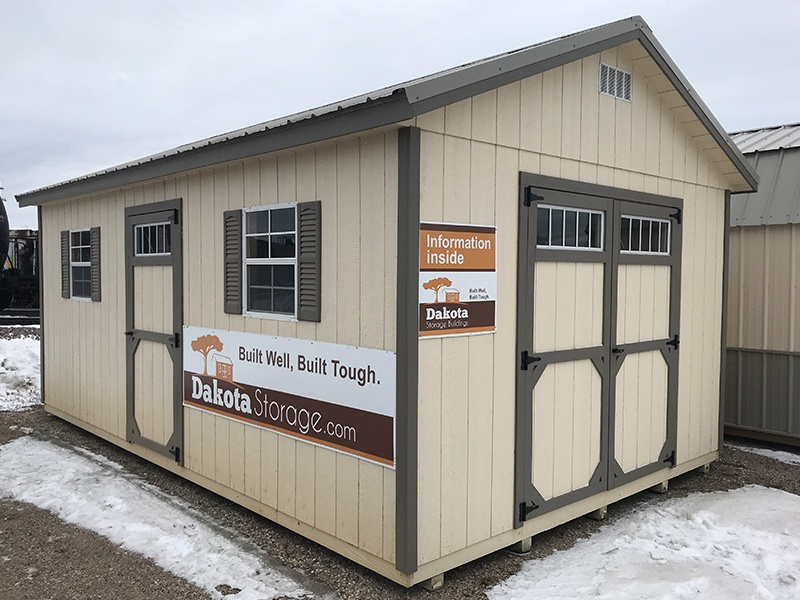 Our Dakota Storage Breckenridge shed lot is easy to find