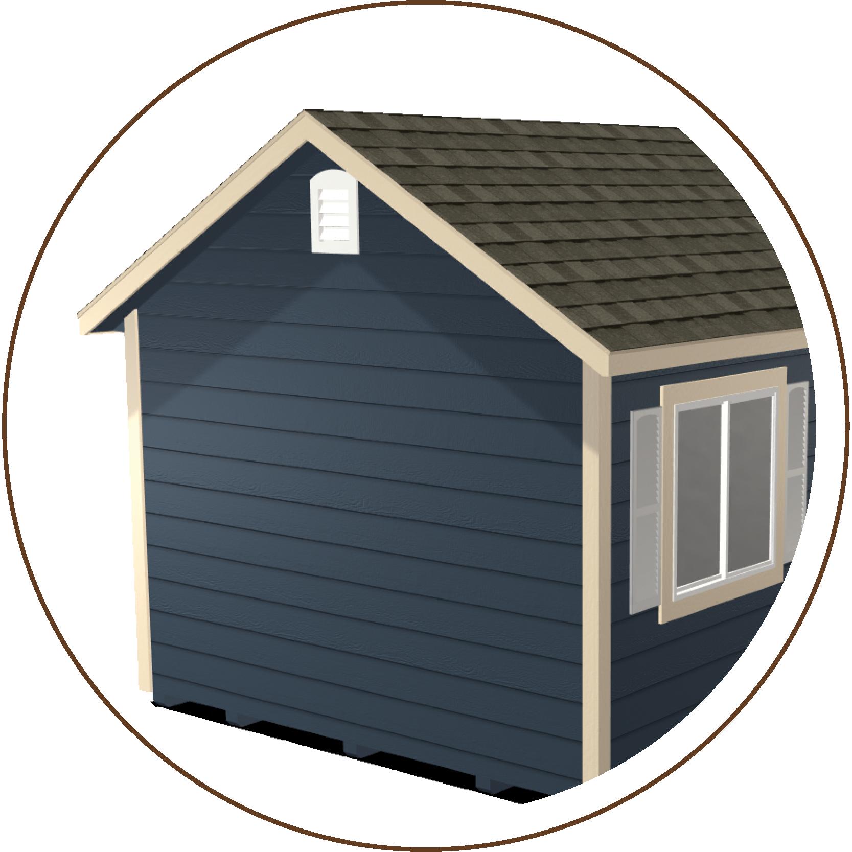 Classic Gable, Ranch Gable, or Quaker Gable Roofline