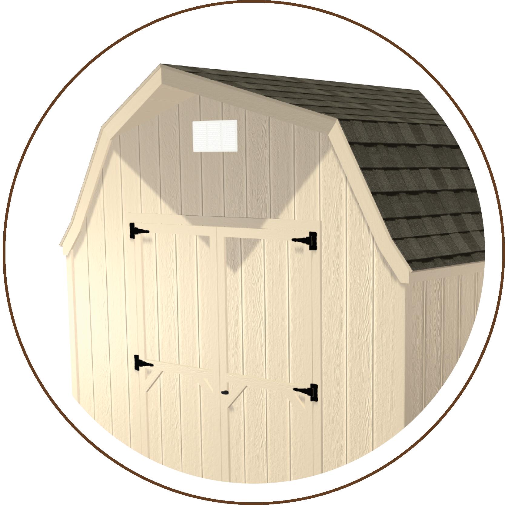 High Barn Roofline, Low Barn, Ranch Gable or Quaker Gable Roofline