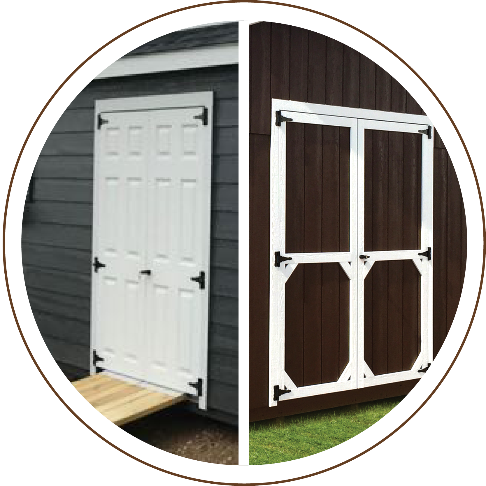 Double Wood or Fiberglass Door