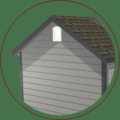 Ranch Gable, Classic Gable, or Quaker Gable Roofline