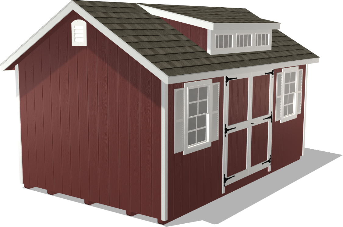 This garden storage shed package offers vents to get the space from getting stuffy