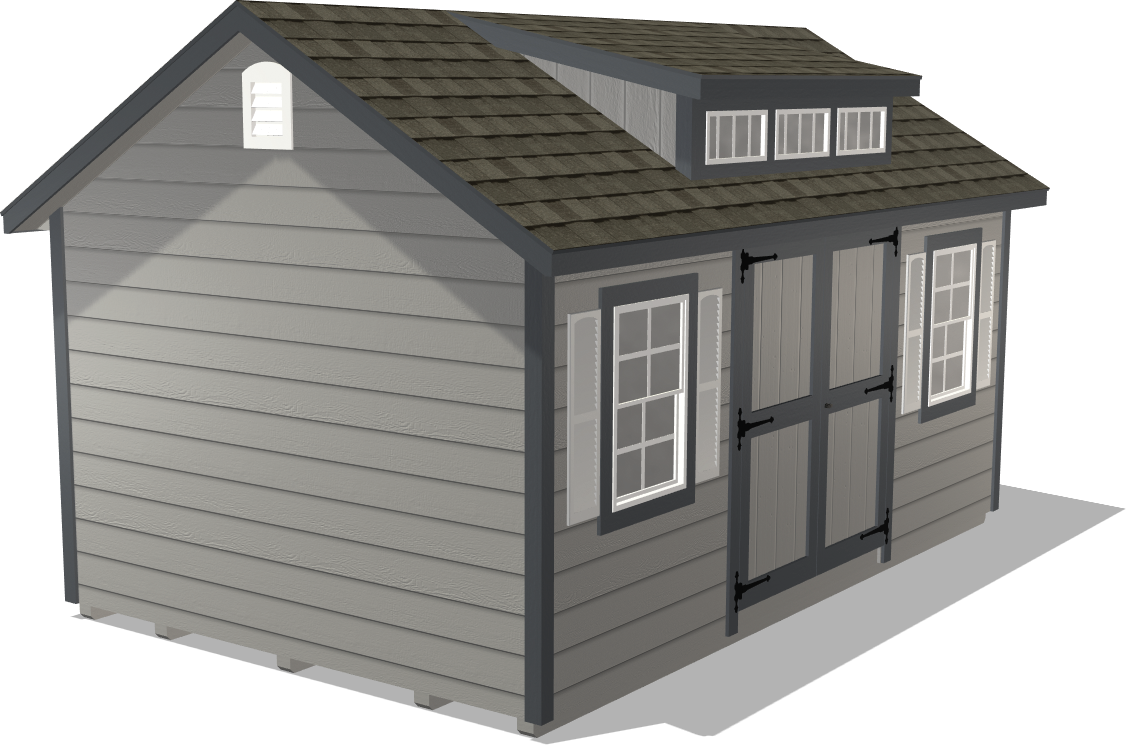 Dakota Storage's Classic Gable is spacious enough to store your riding mower and gardening supplies