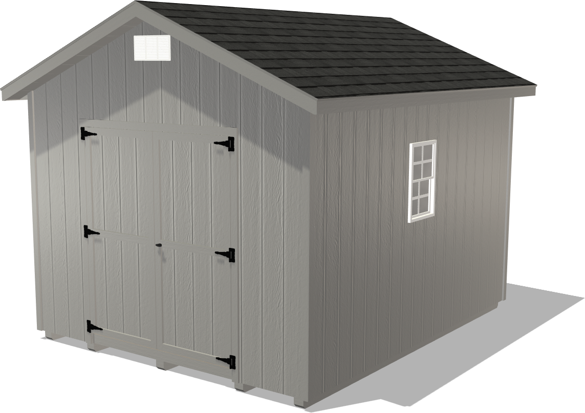 Our Ranch Gable is a great garage package for those looking to store yard equipment