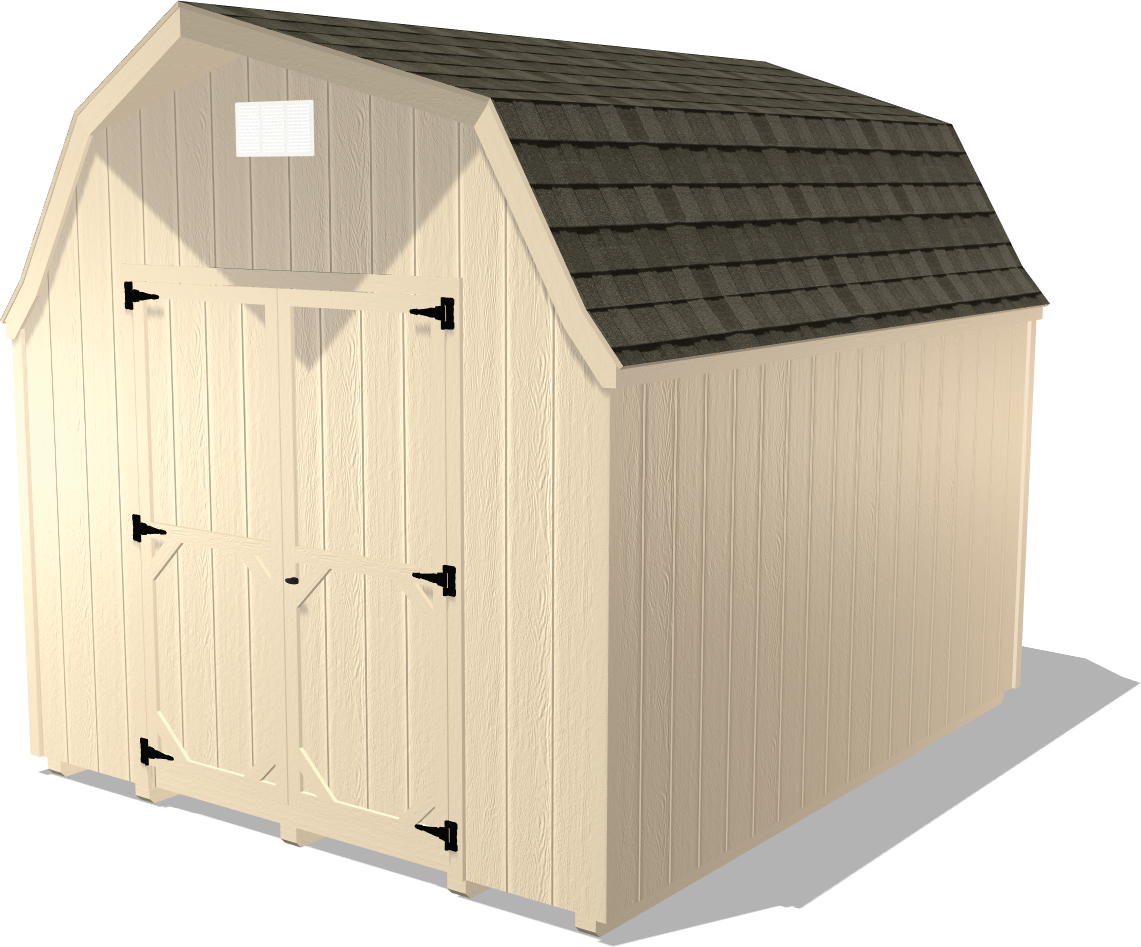 Our High Barn package features lap siding and is garage package for those looking for extra storage space at home