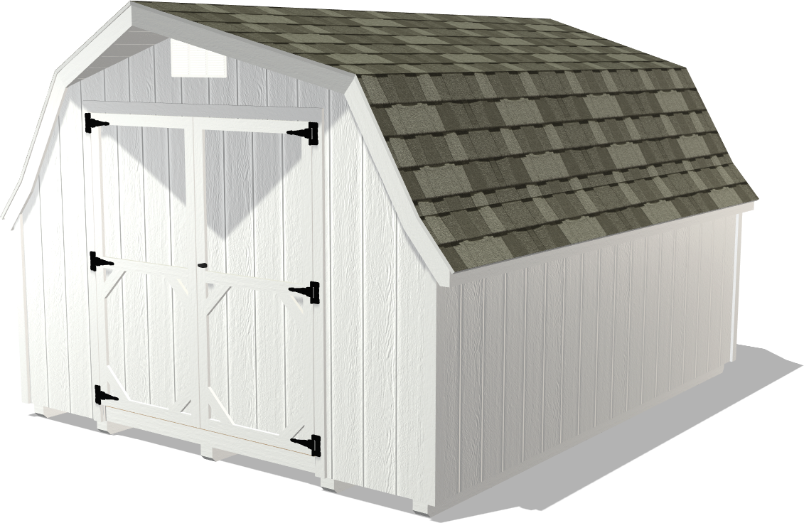 Our Ranch Gable garage package is a little more spacious for storing vehicles