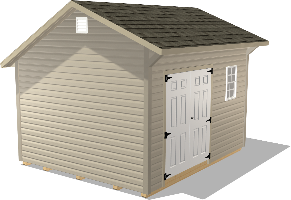 Our Quaker Gable shed would be a stylish and useful addition to any backyard