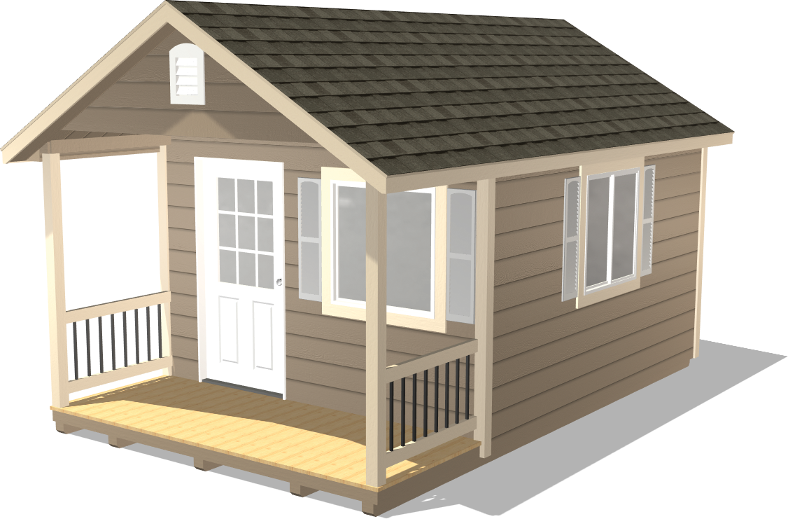 This Classic Gable shed has wood siding to match your house style