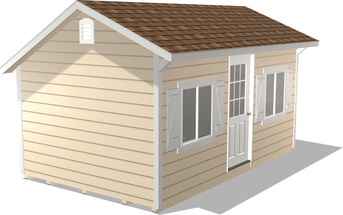 Skip the expensive home addition and get our Quaker Gable to entertain guests or storage extra office supplies