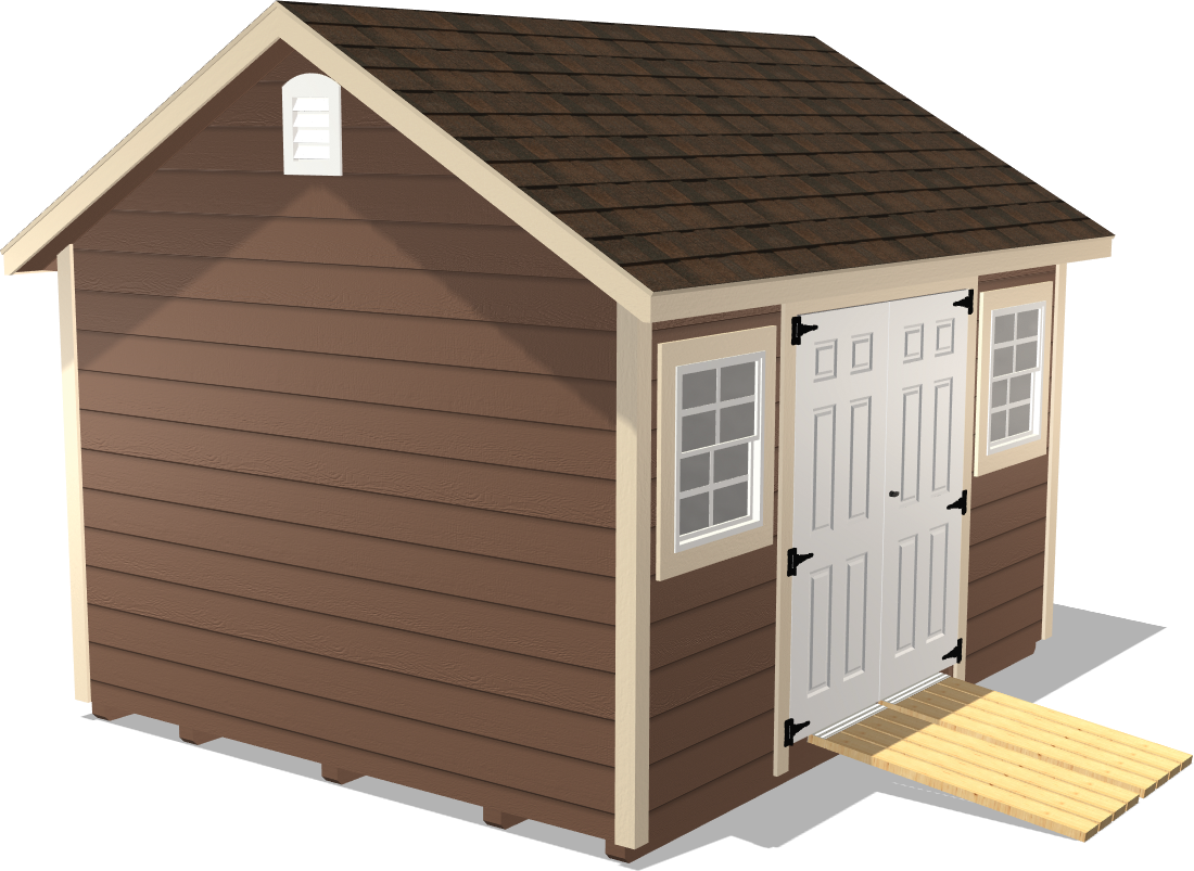 Our Classic Gable shed has window and vents for your home workshop project like painting, crafts and more