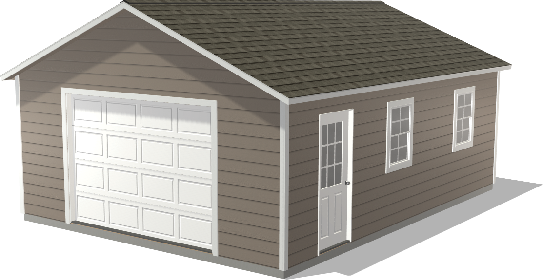 Our Gearhead Garage package features a Ranch Single Stall that could fit a small boat