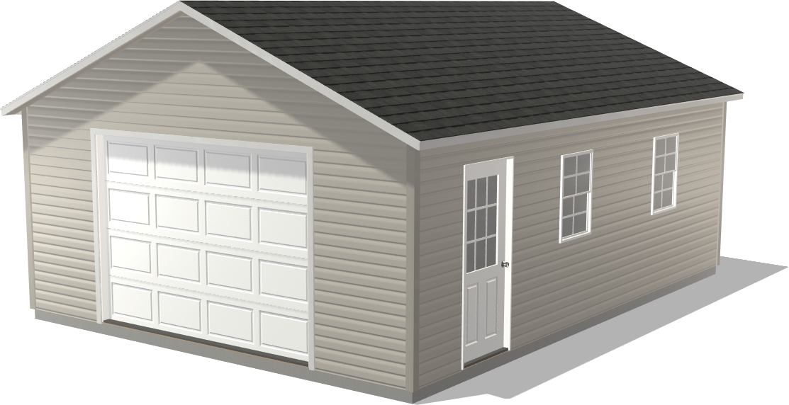 Dakota Storage Buildings' Ranch Single Stall could be used for motorcycle storage
