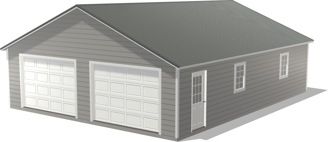 Store your model car, boat, or ATVs in our Ranch Double Stall Gearhead Garage