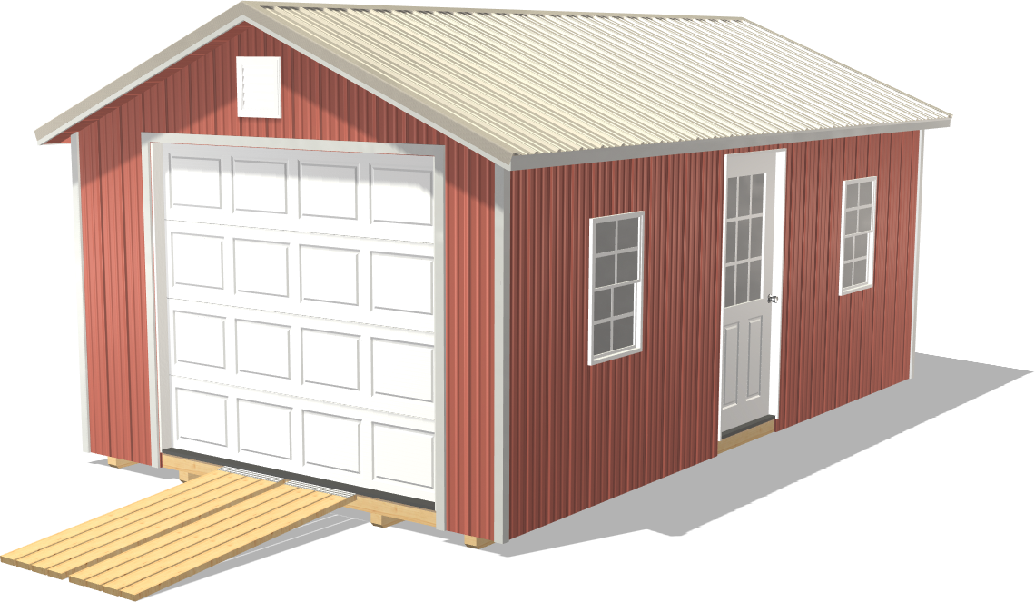 Our Ranch Gable is wide and spacious to fit all your farming supplies and bulky equipment