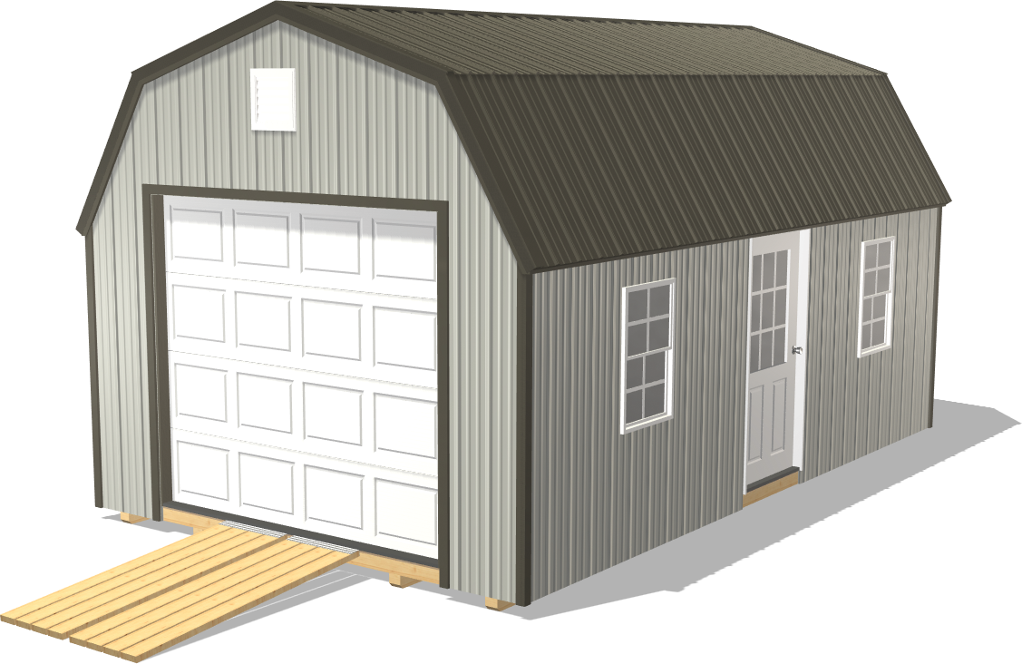 Our High Barn is wider and taller for fulfilling all your farming storage needs