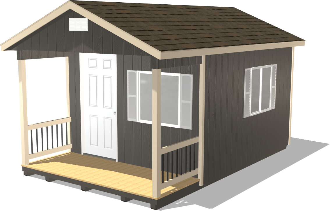 Check out our Ranch Gable Man Cave shed package