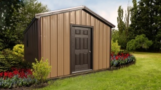 Pre-built Storage Shed - Brown & Chocolate