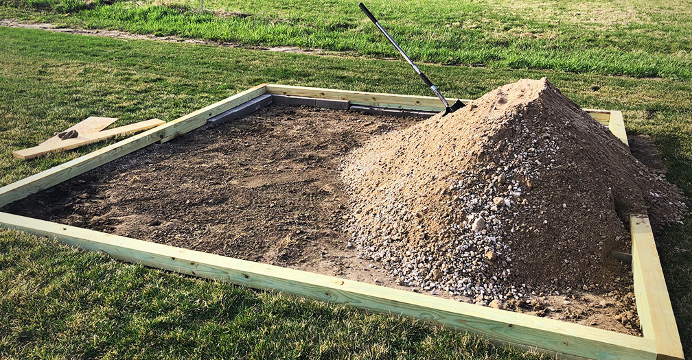 How to Lay a Level Shed Base