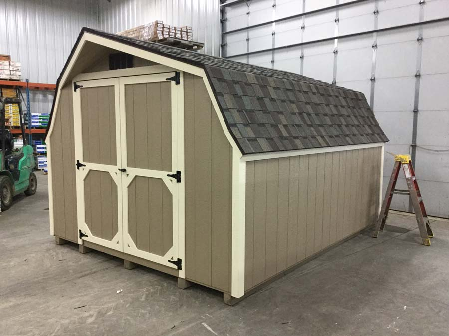 Backyard Shed Exterior Features