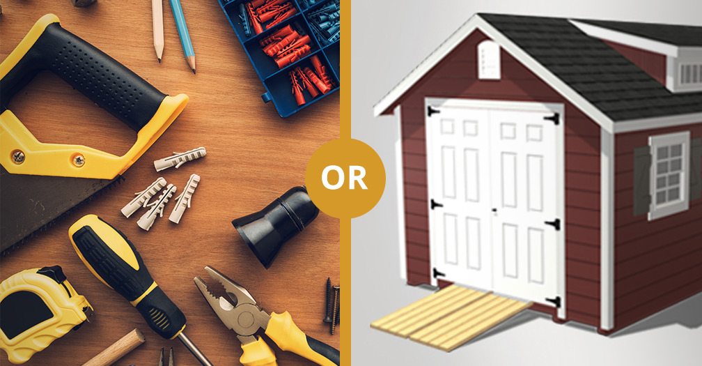 Shed Kits from a Home Improvement Store OR Custom Built Sheds from a Manufacturer?