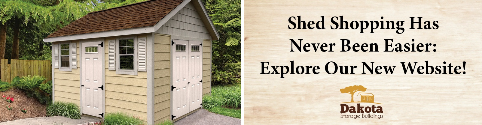Shed Shopping Has Never Been Easier: Explore Our New Website