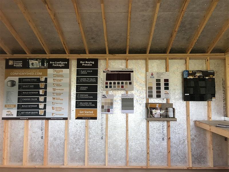 Dakota Storage Buildings' Willmar, Minnesota Shed Display Lot