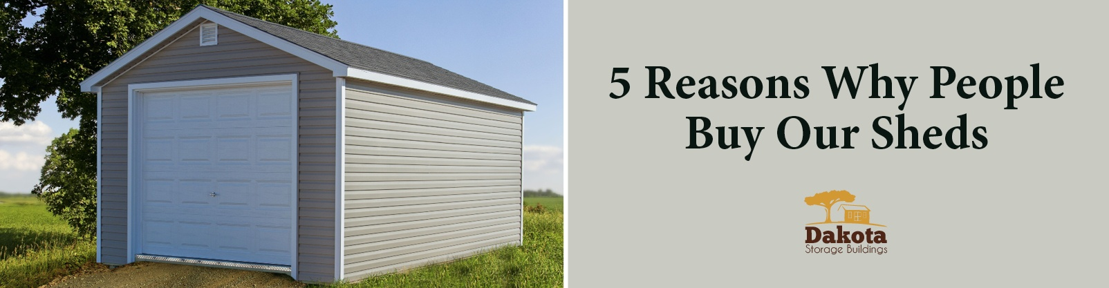 5 Reasons Why People Buy Our Storage Buildings